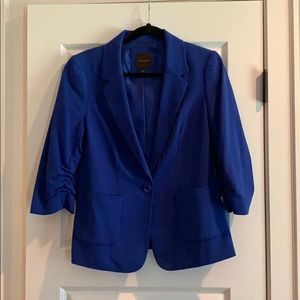The Limited -Royal Blue Blazer 3/4 Cinched Sleeves